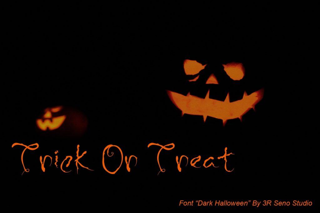 Dark Halloween Font Preview Image.