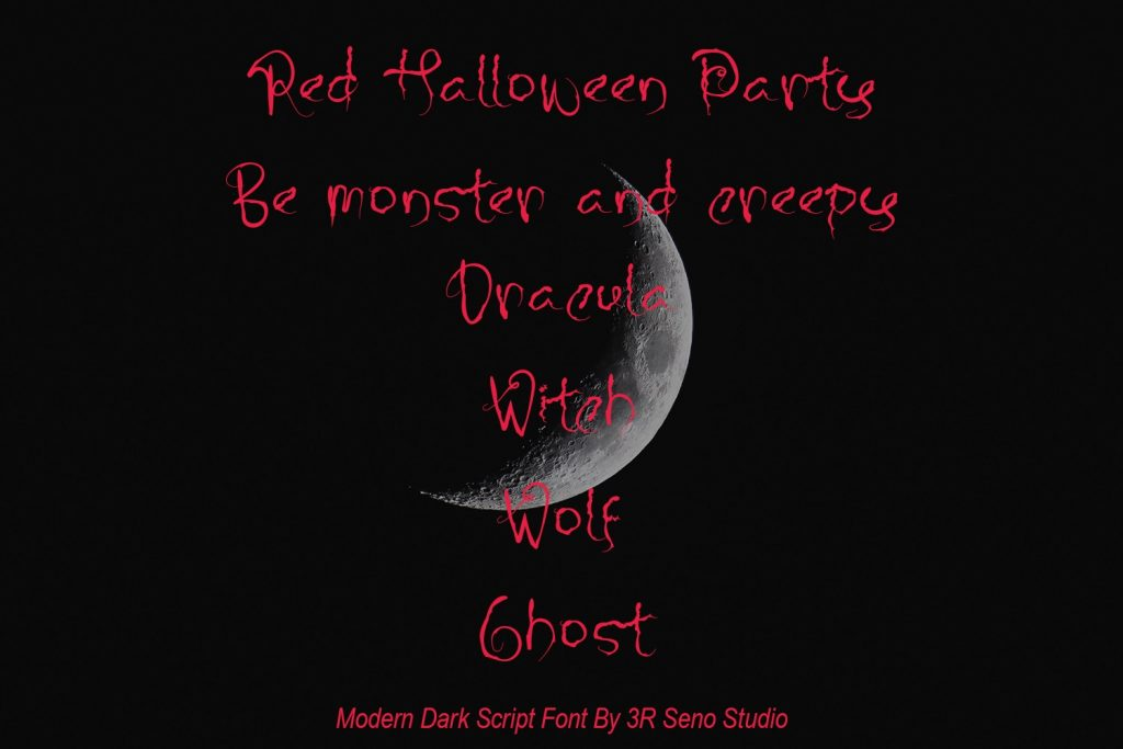 Preview for Best Free Font Halloween.