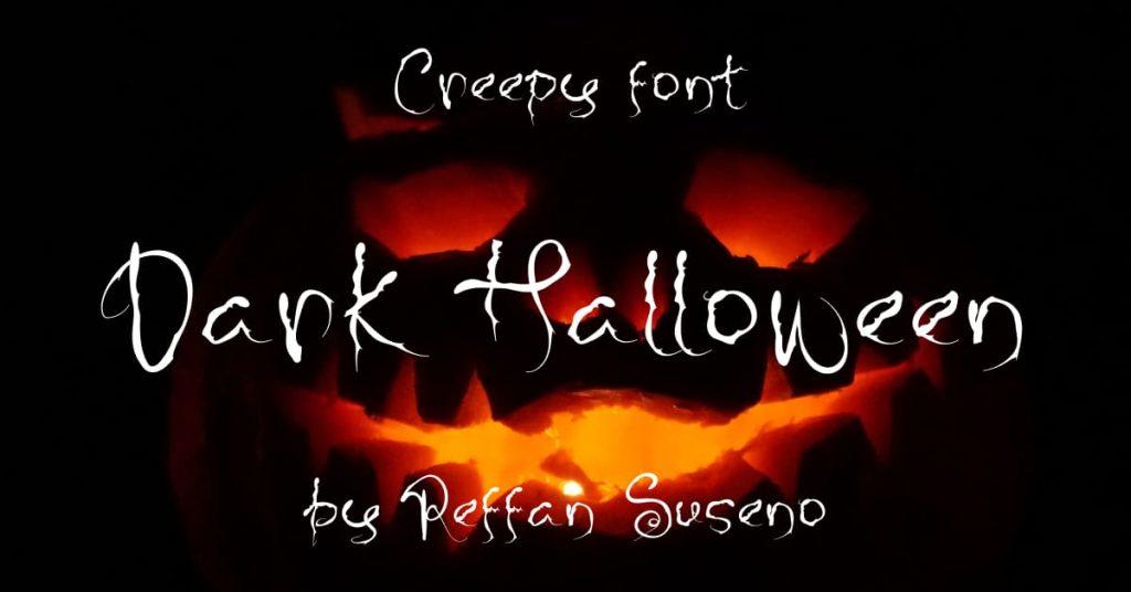 Dark Halloween - best free font halloween Facebook Collage Image by MasterBundles.
