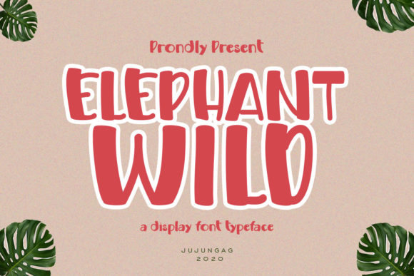 Elephant Wild is a cute and quirky display font. It will add an incredibly joyful touch to your designs.