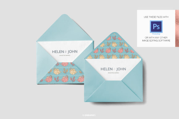 Envelope Made On The Teapots and Teacups and Flowers Patterns.