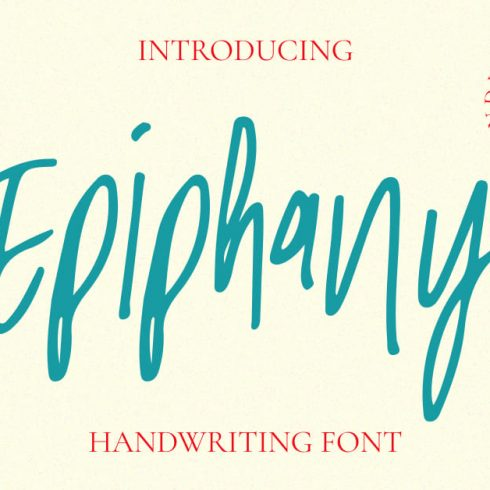 Beautiful Epiphany Handwriting Font Facebook Collage Image by MasterBundles.
