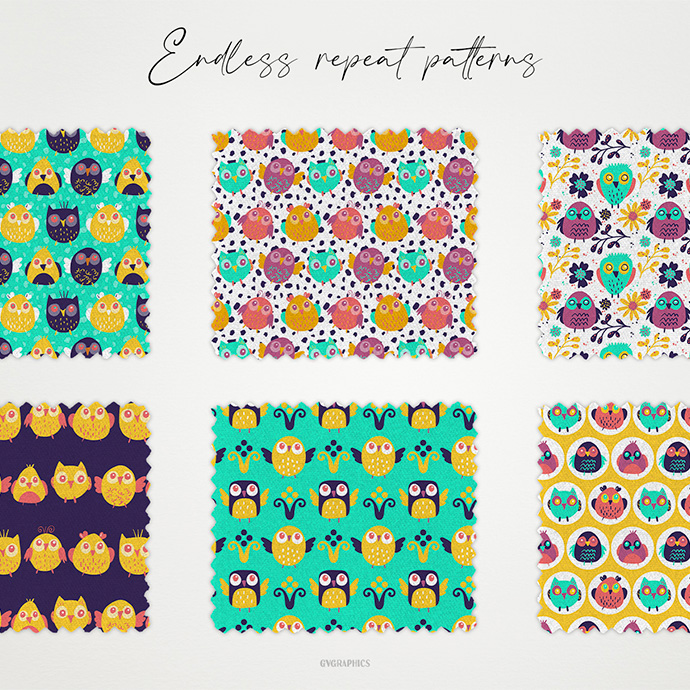 Examples Endless Repeat Patterns On The Fabric.