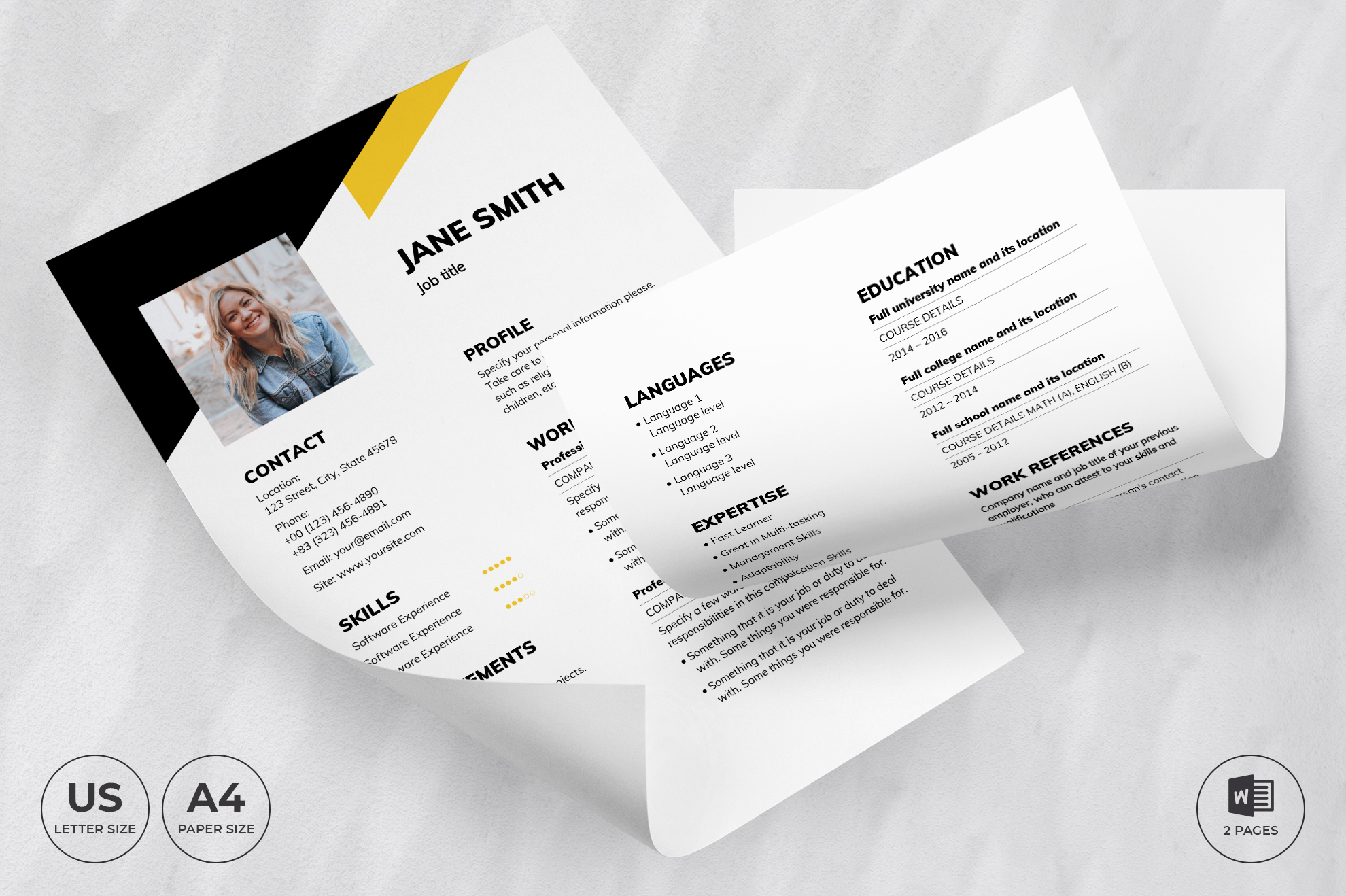 Financial Advisor CV Resume Template Previews.