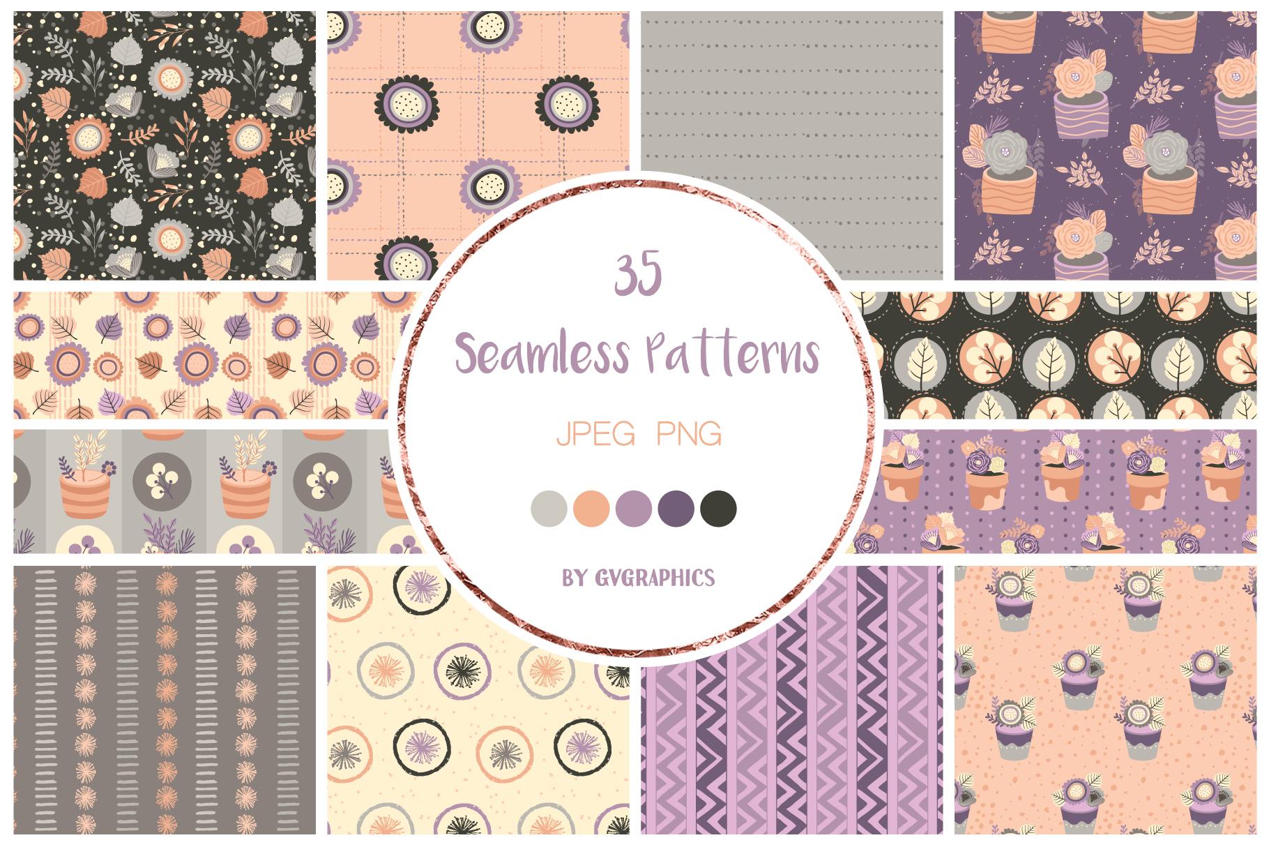 Flowers Seamless Patterns