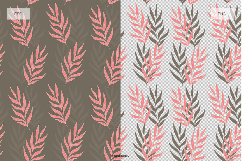 Garden of Joy Floral Backgrounds Seamless Patterns JPG and PNG.
