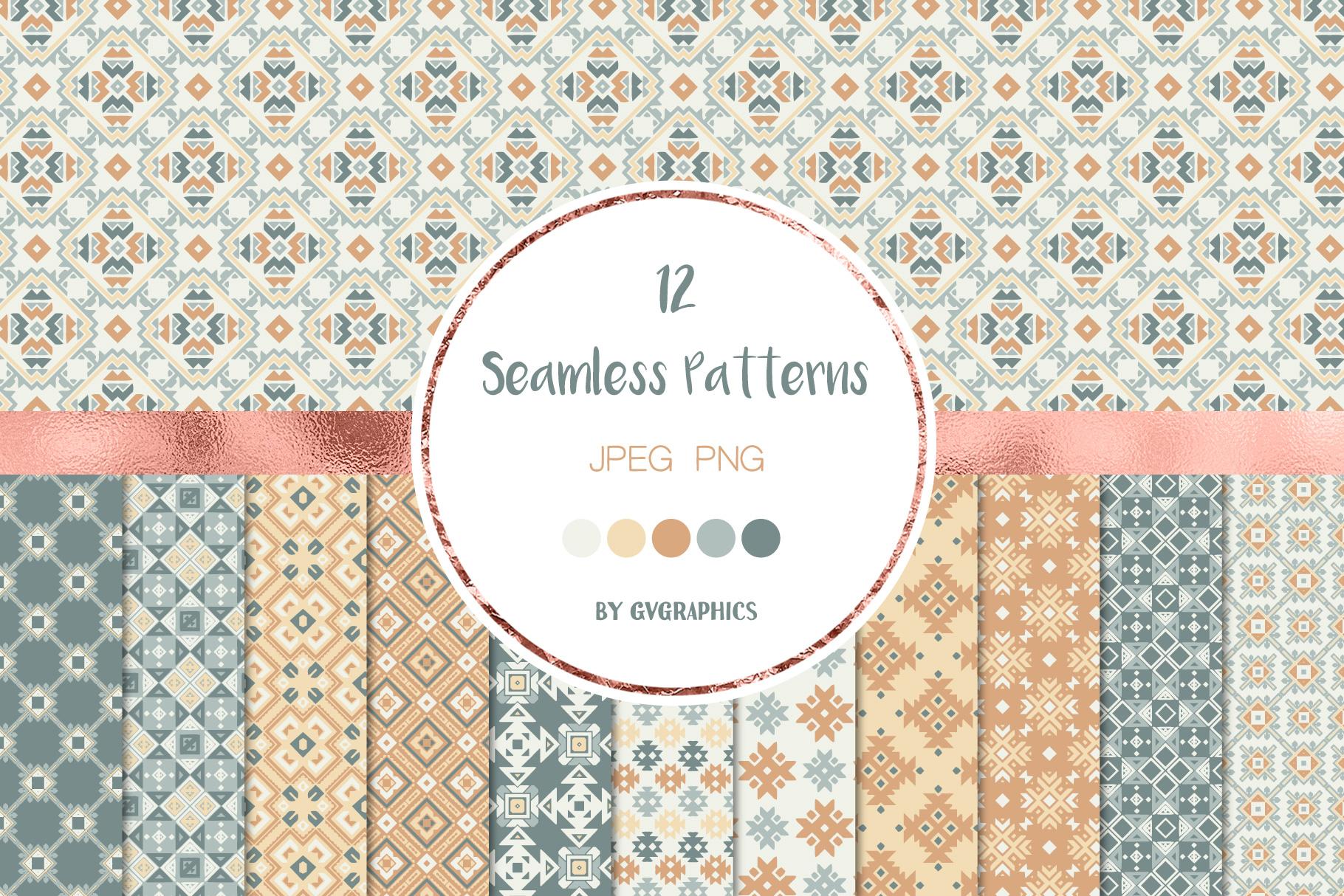 Geometry Seamless Pattern.
