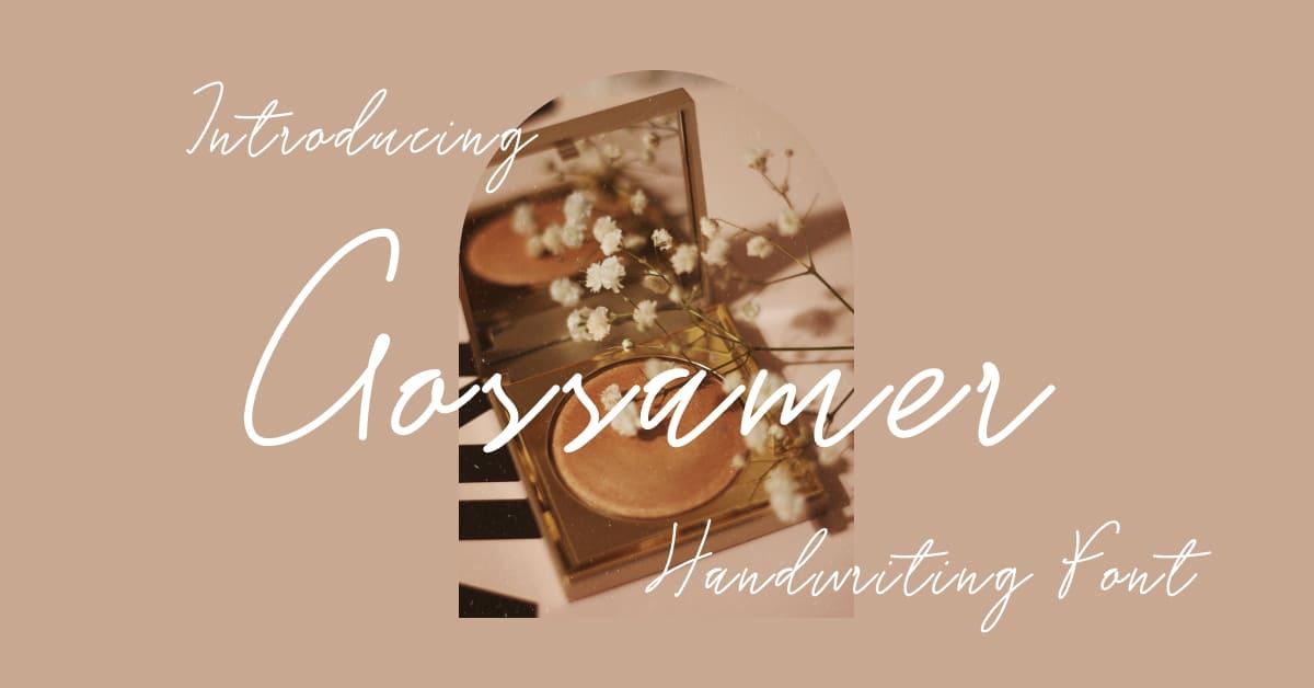 Gossamer Handwriting Font Facebook Collage Image by MasterBundles.