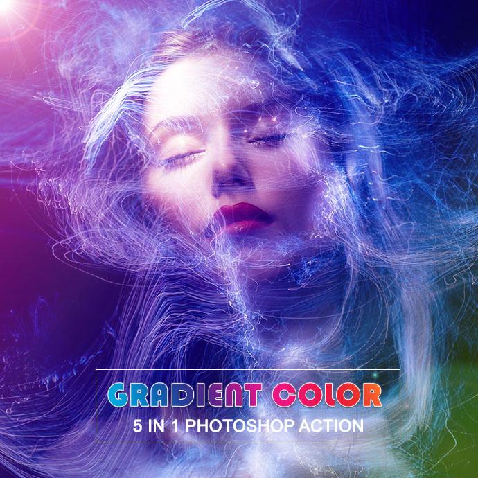 Gradient Photoshop Actions Bundle Cover Image