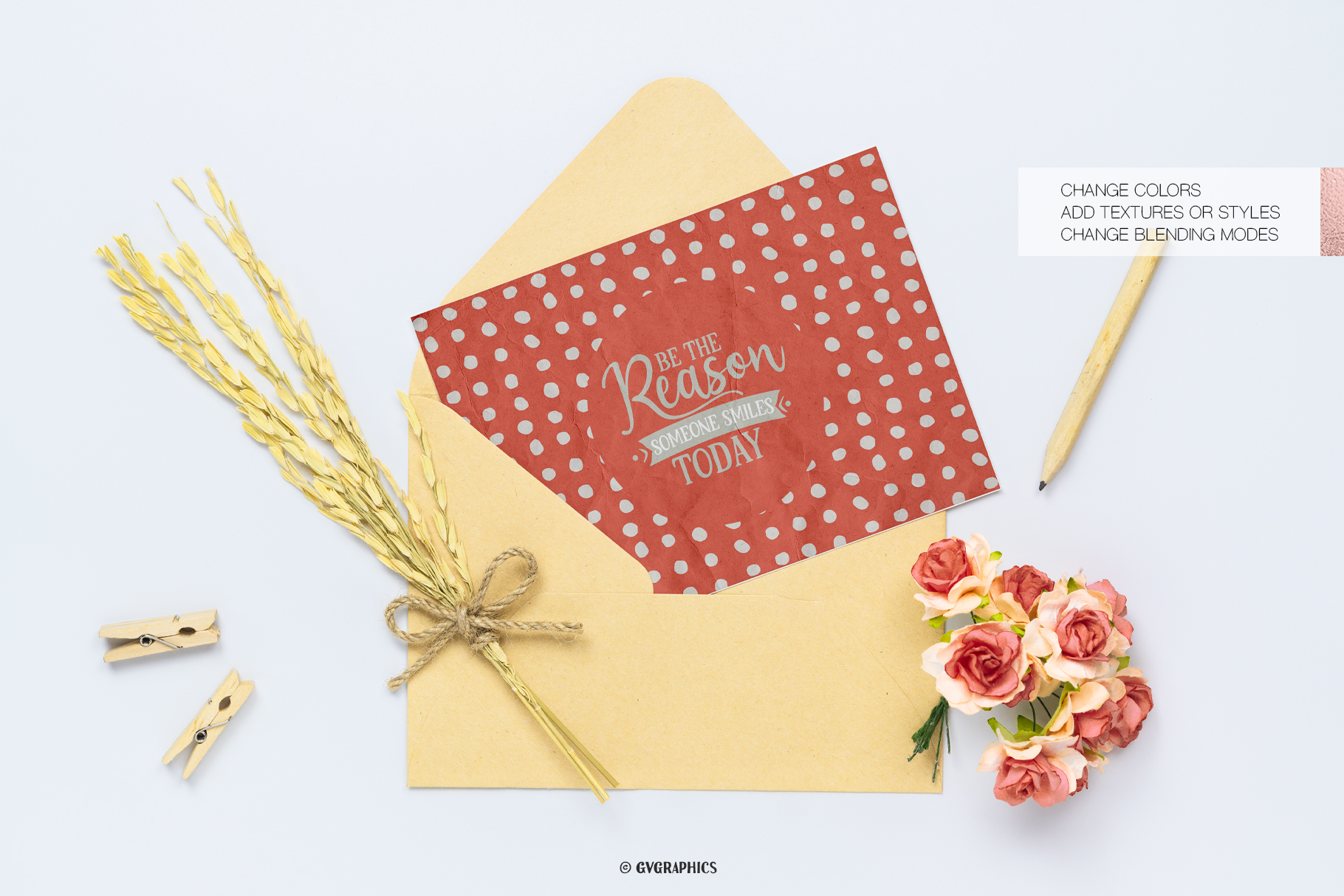 Greeting Card Mabe On The Flowers and Teapots Seamless Patterns.