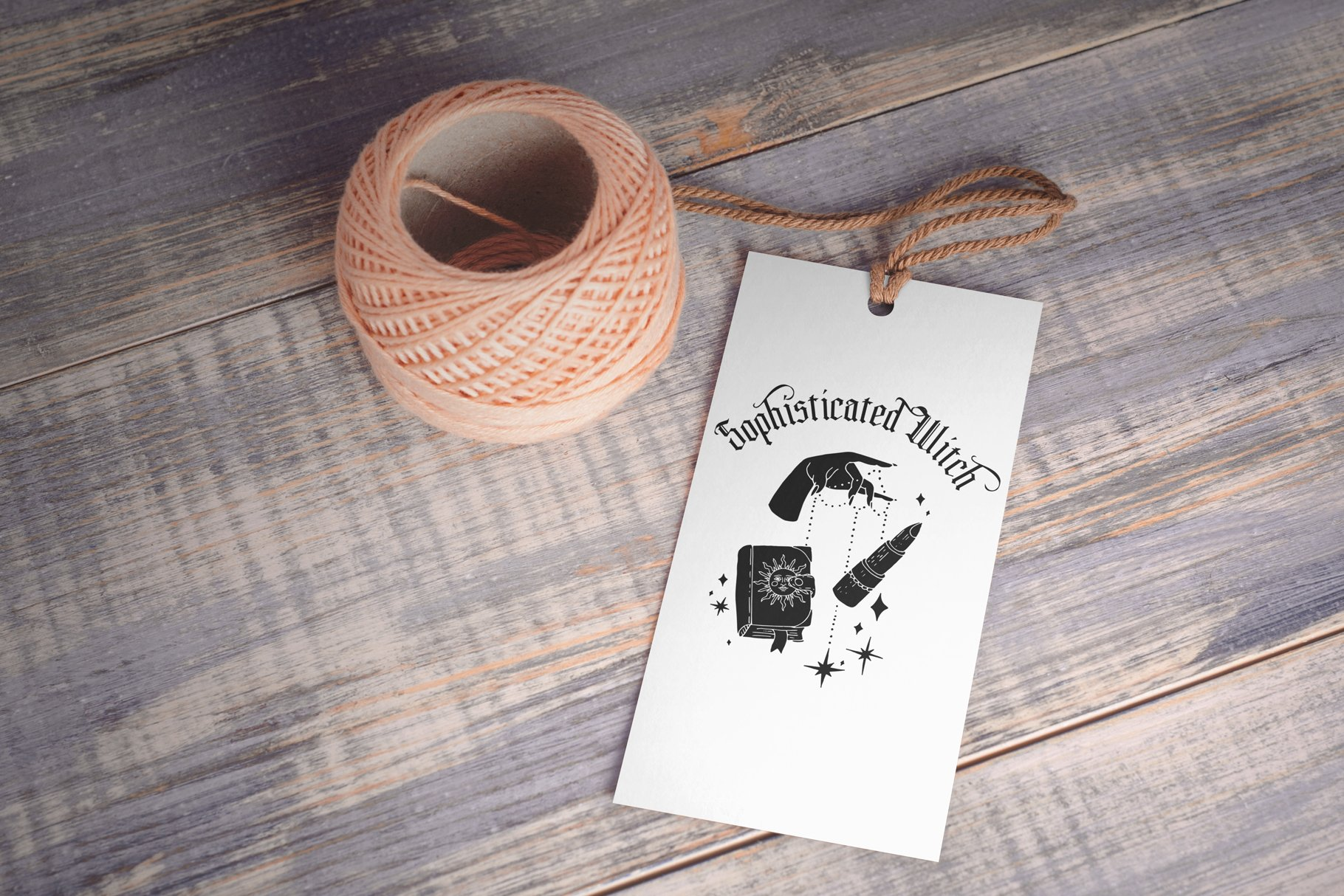 Greeting Card Made On The Witchy and Celestial Prints Vector Illusrtation.