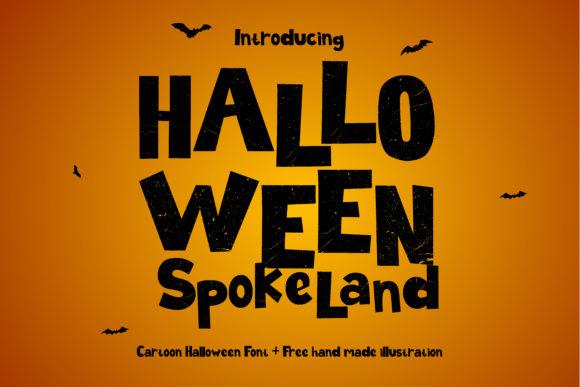 Halloween Spokeland is a great display font.