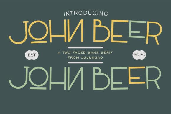John Beer is a two faced, minimal, yet elegant sans serif font.