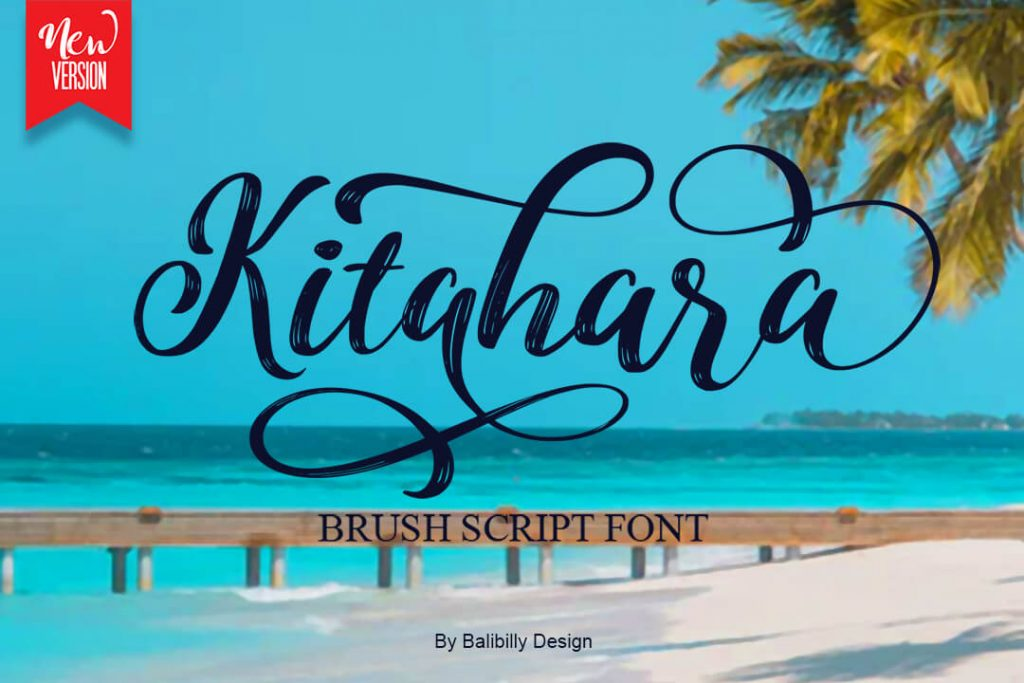 Kitahara Brush Script Font Facebook Collage Image by MasterBundles.