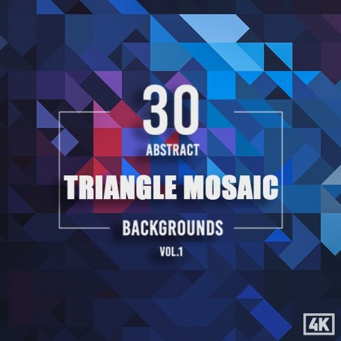30 Abstract Triangle Mosaic Backgrounds cover image.