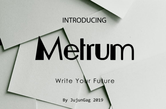 Metrum combines modern aesthetics and great legibility into a stunning font. Get inspired by its unique charm!