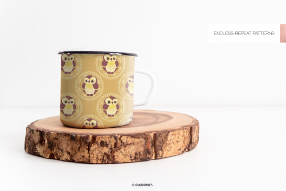Mug Made On The Animals in the Woods Seamless Patterns.