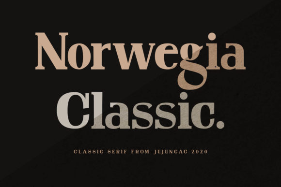 Norwegia Classic is a simple and neat lettered serif font.