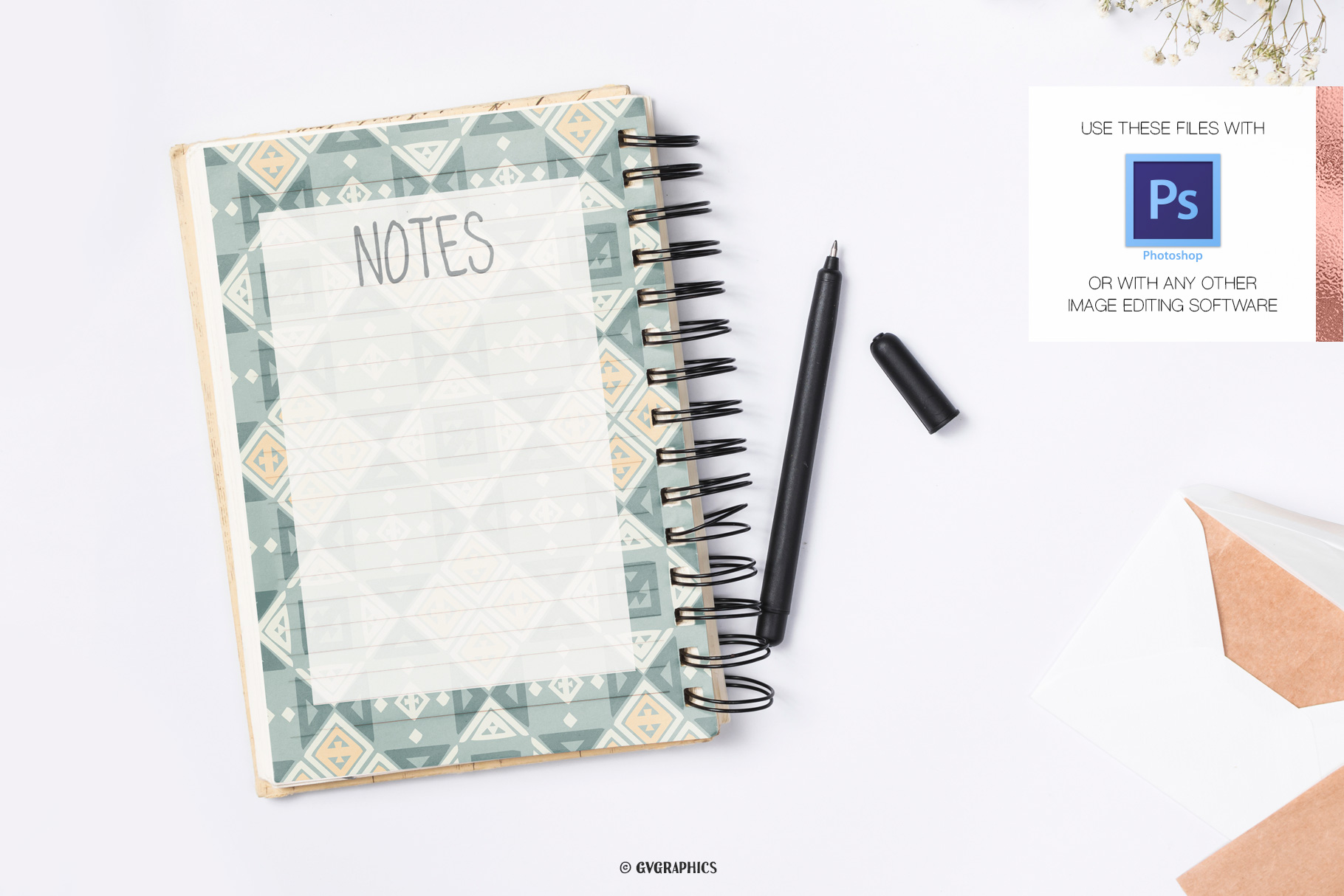 Notebook Made On The Geometry Seamless Pattern.