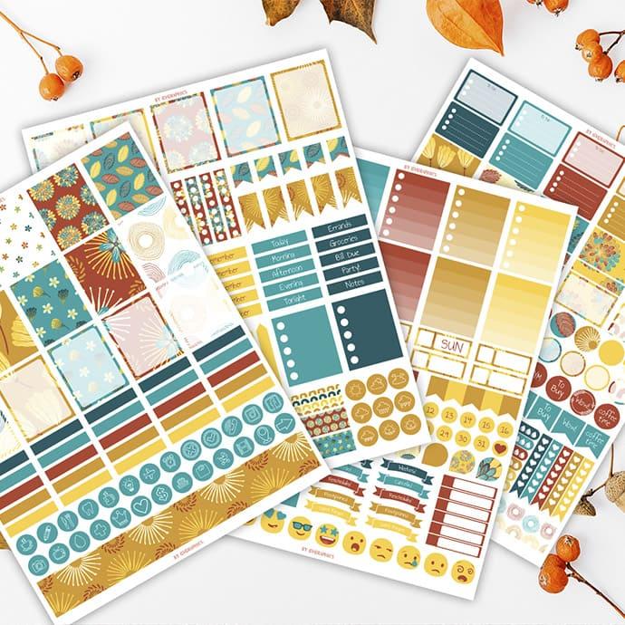 Planner Stickers for Erin Condren Vertical