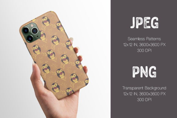 Phone Case Made On The Animals in the Woods Seamless Patterns.