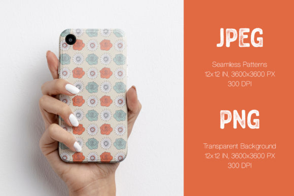 Phone Case Made On The Butterflies Roses and Strawberries Seamless Patterns.