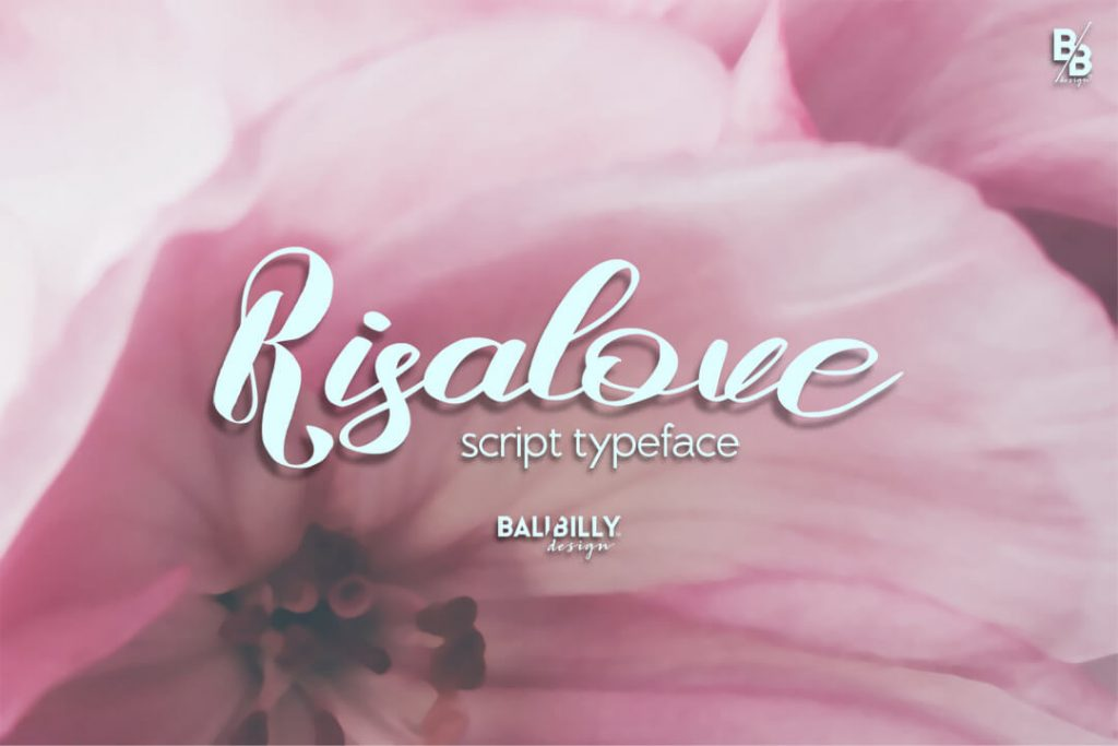 Risalove Free script Font Facebook Image.