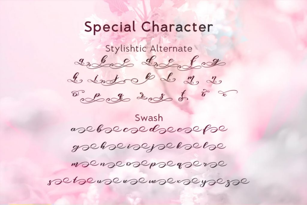 Special Characters Preview for Free Font.