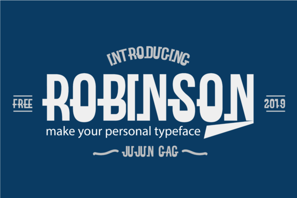Robinson is a classic display typeface with a bold feel. Fall in love with its modern feel!