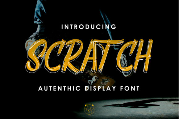 Scratch is an authentic and powerful display font. Use it to add personality to your designs!