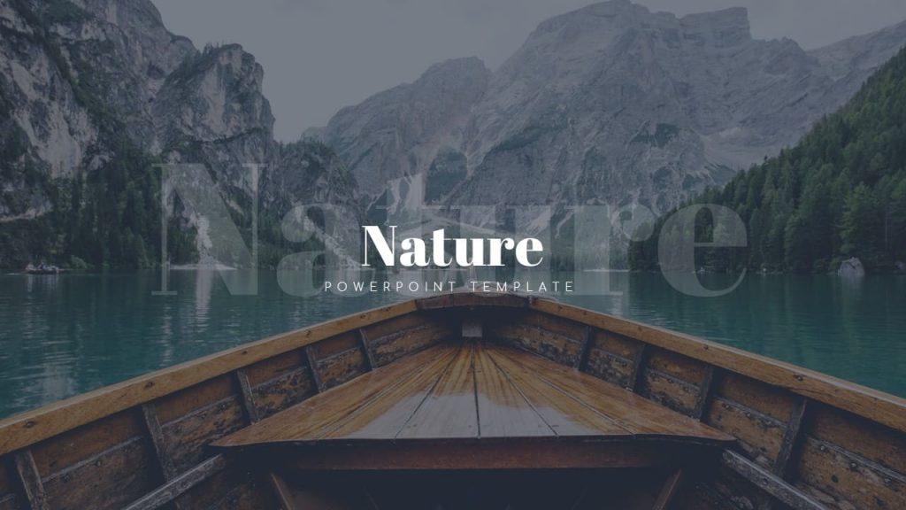 Cover Nature Presentation Template.
