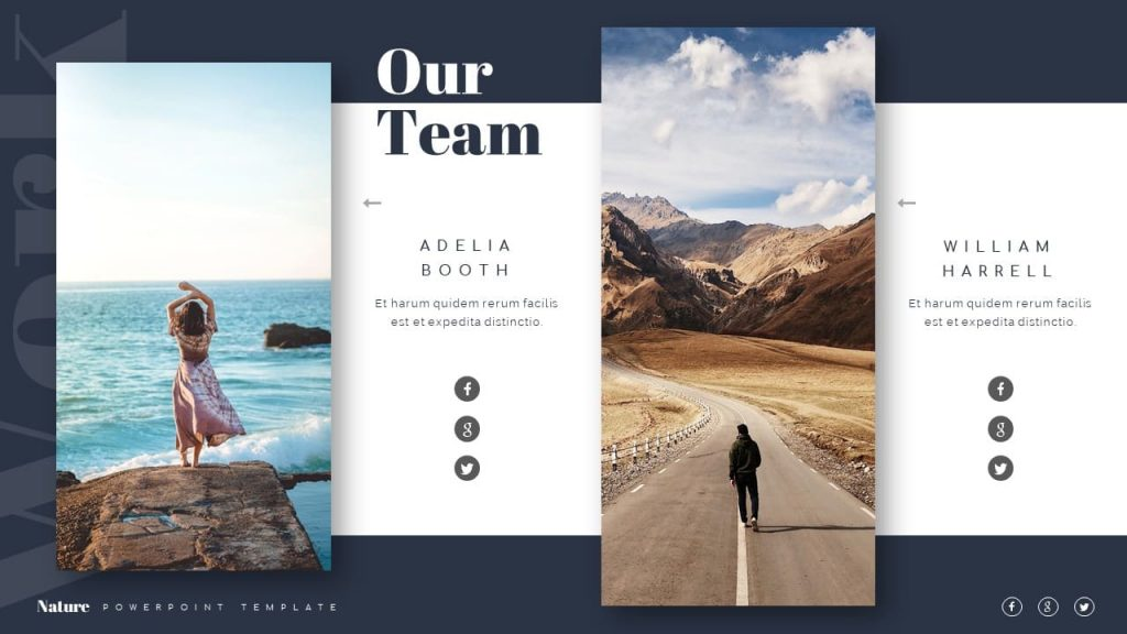 Our team Slide of nature presentation template.
