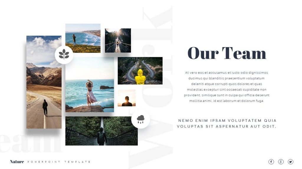 Meet the Nature Presentation Template team.