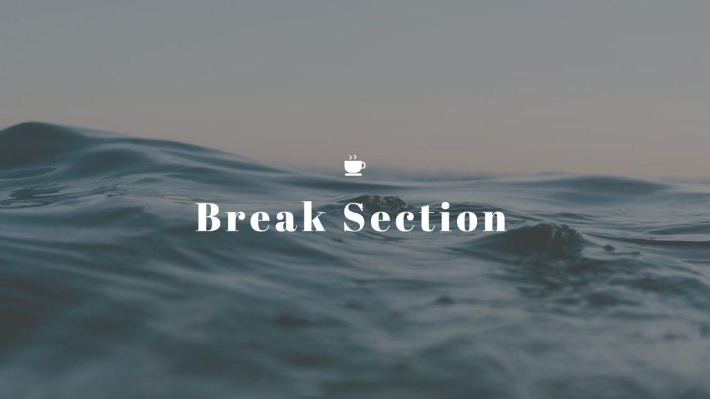 Break section Nature Presentation Template.