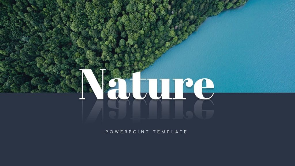 Forest and River Nature Presentation Template.