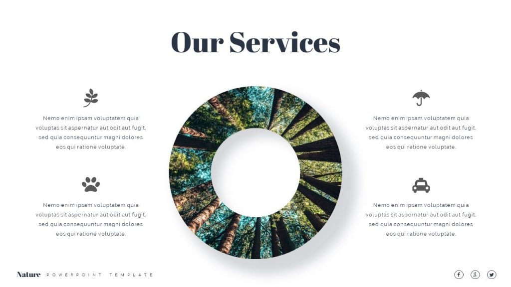 Our service is Nature Presentation Template.