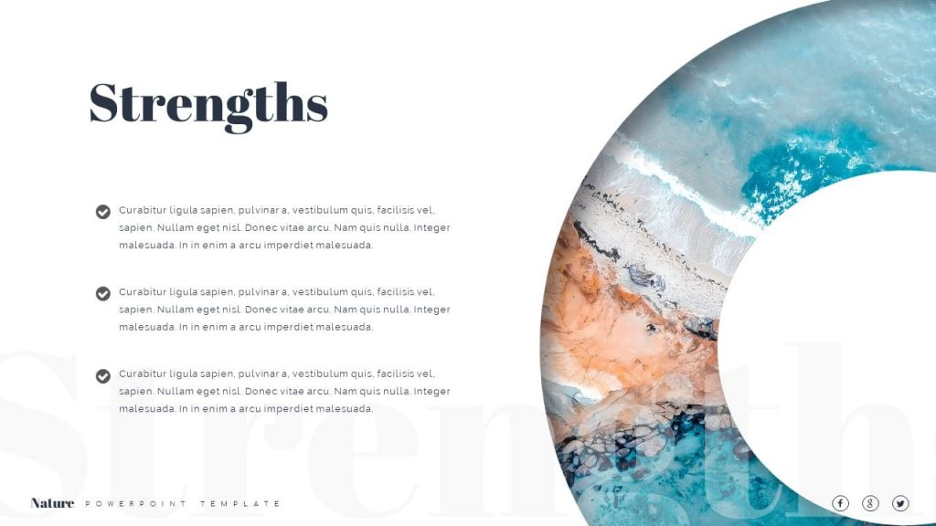 Strengths of Nature Presentation Template.