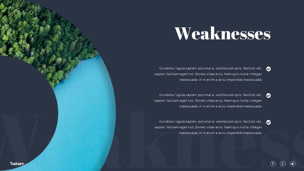 Slide Weaknesses Nature Presentation Template.
