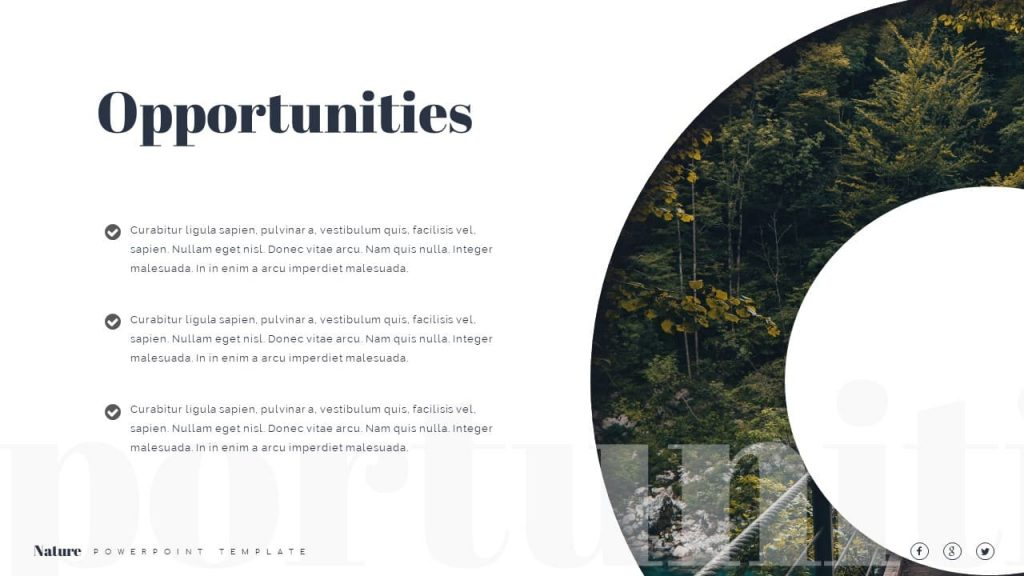 Opportunies Nature Presentation Template.