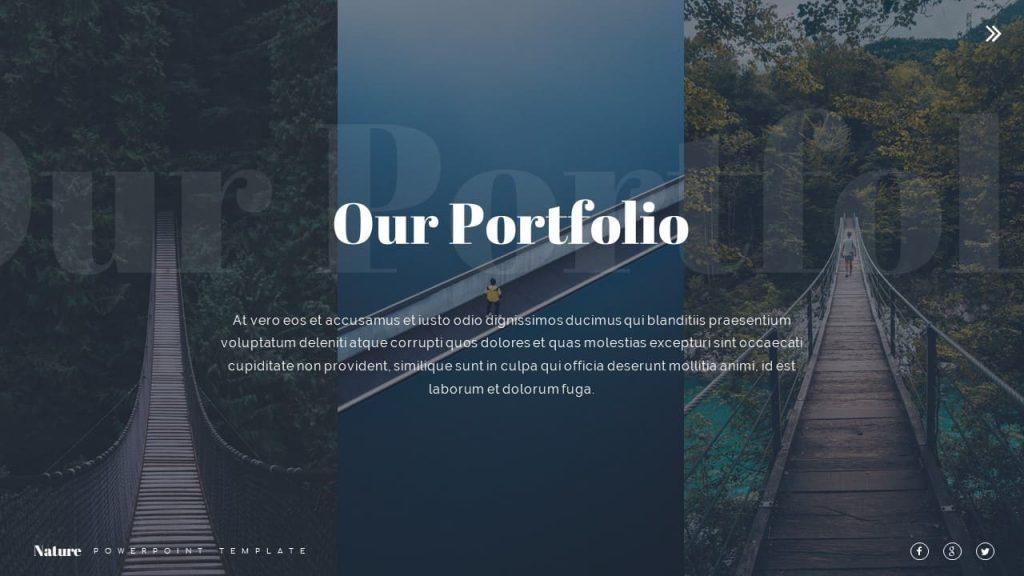 Slide for Portfolio Nature Presentation Template.