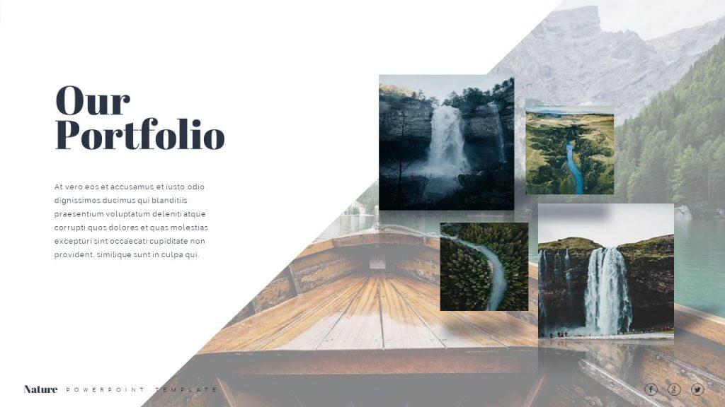 Our Portfolio Nature Presentation Template.