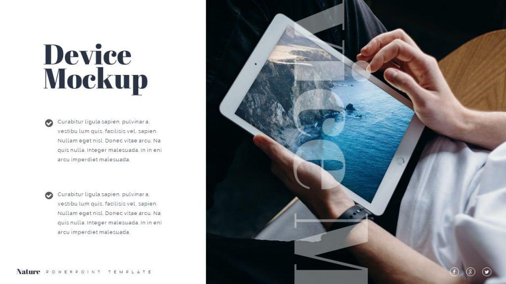 Device mockup tablet Nature Presentation Template.