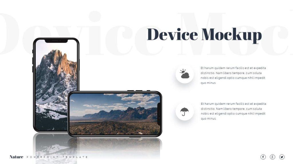Device mockup smartphone Nature Presentation Template.