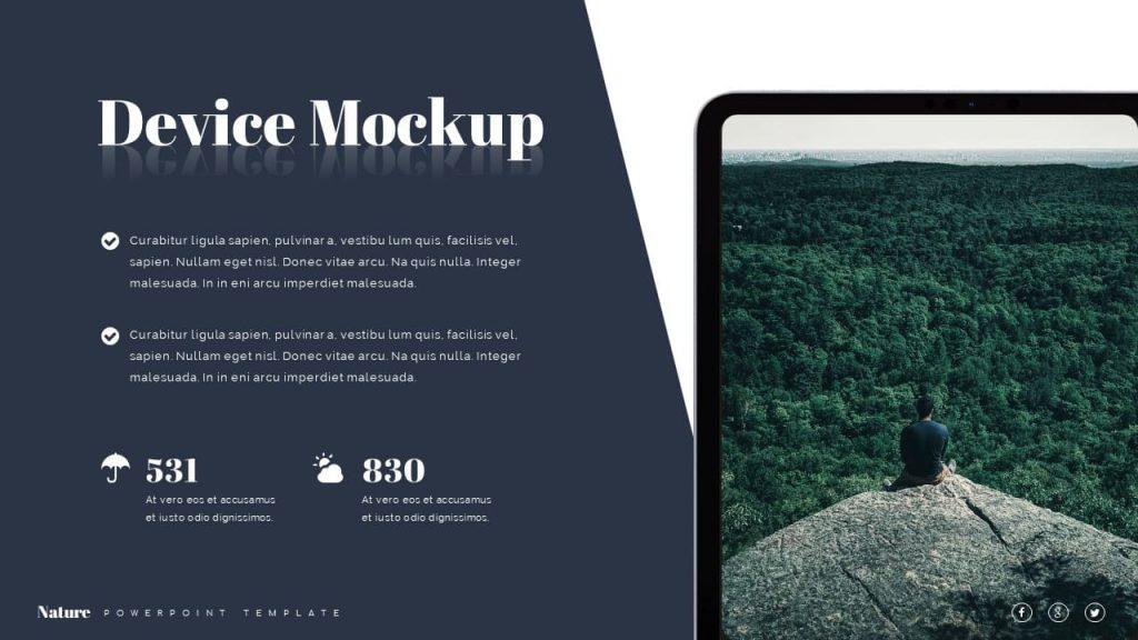 Device mockup note Nature Presentation Template.