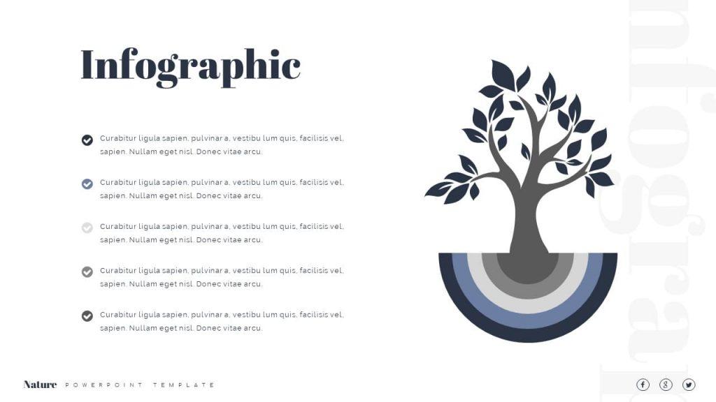 Infographic and listing description Nature Presentation Template.