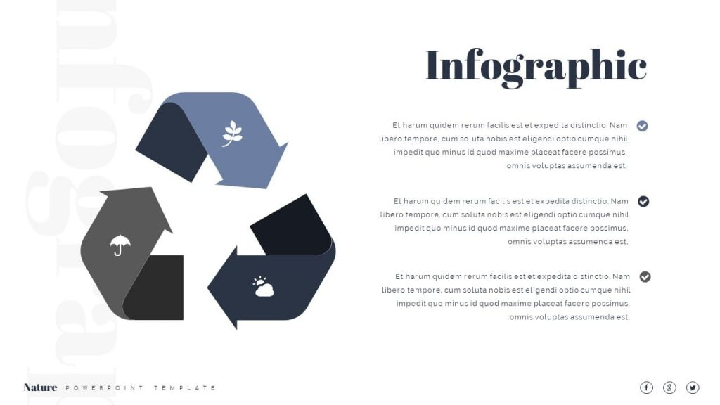 Infographics with Icons Nature Presentation Template.