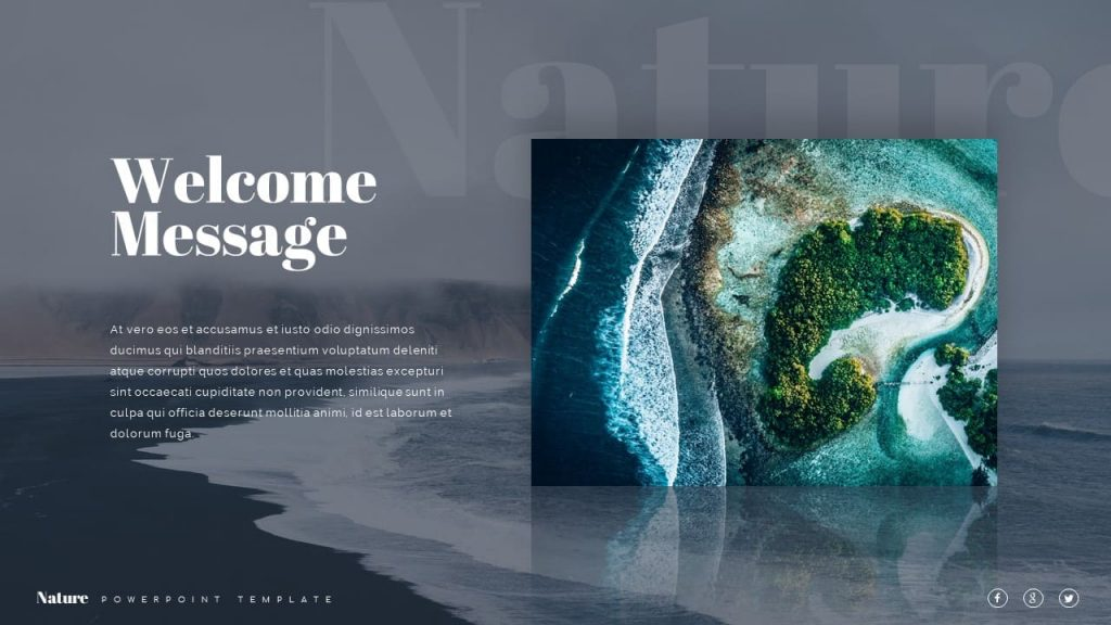 Welcome Nature Presentation Template.