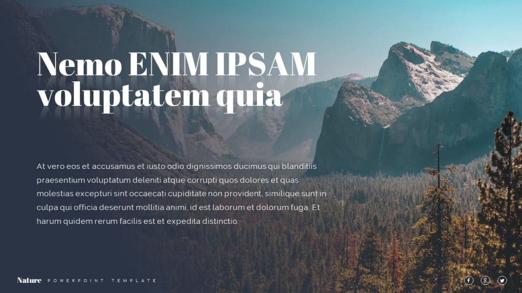 Forest and Mountains Nature Presentation Template.