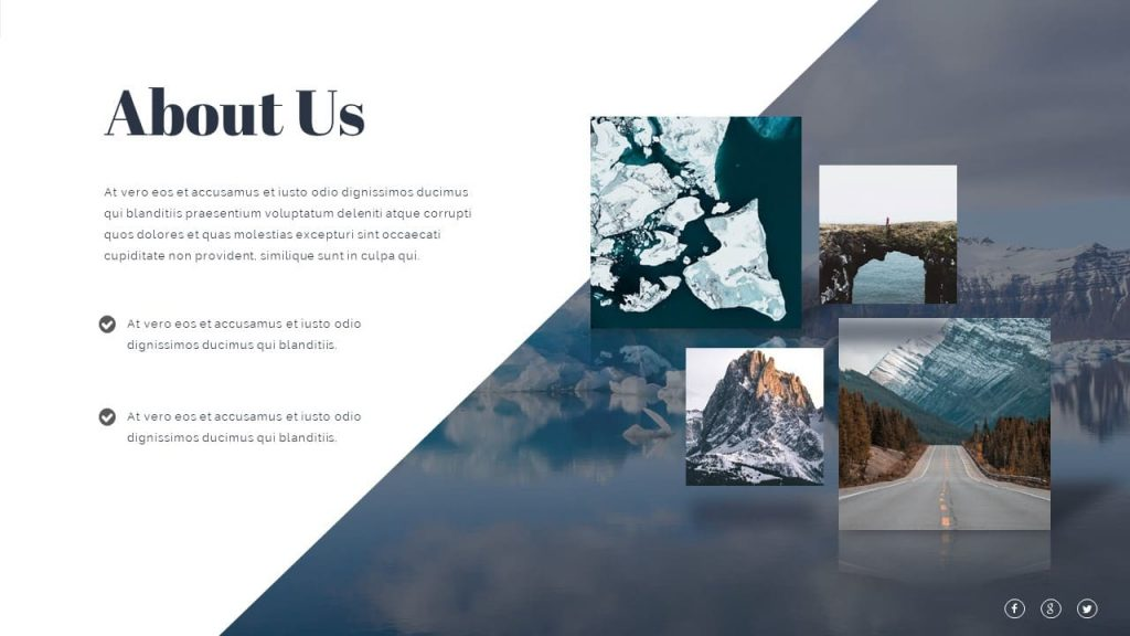 Slide for information about the subject Nature Presentation Template.