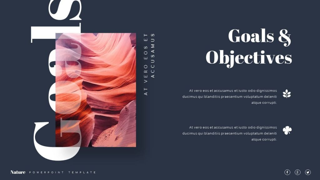 Goals and objectives Nature Presentation Template.